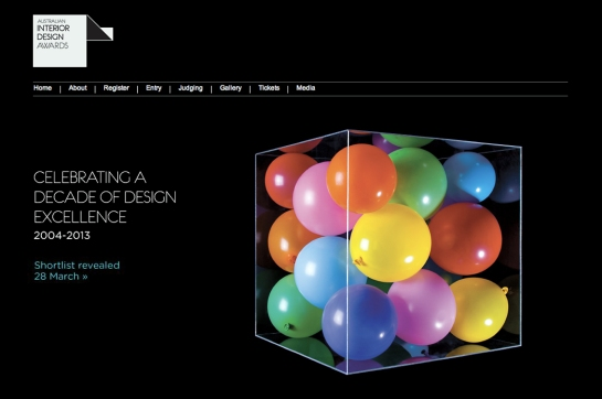 Screen shot of the Australian Interior Design Awards.